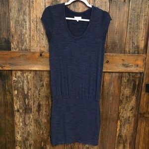 Lou & Grey, XS, Blue Drop Waist Dress